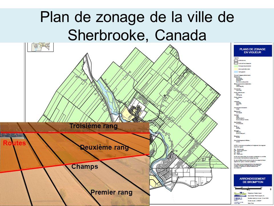 Plan de zonage de la ville de Sherbrooke, Canada
