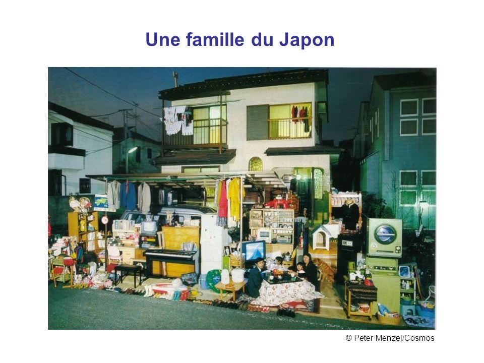 Une famille du Japon © Peter Menzel/Cosmos Japon
