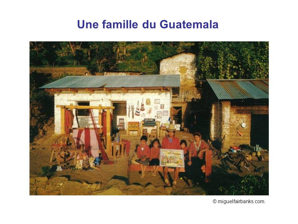 Une famille du Guatemala