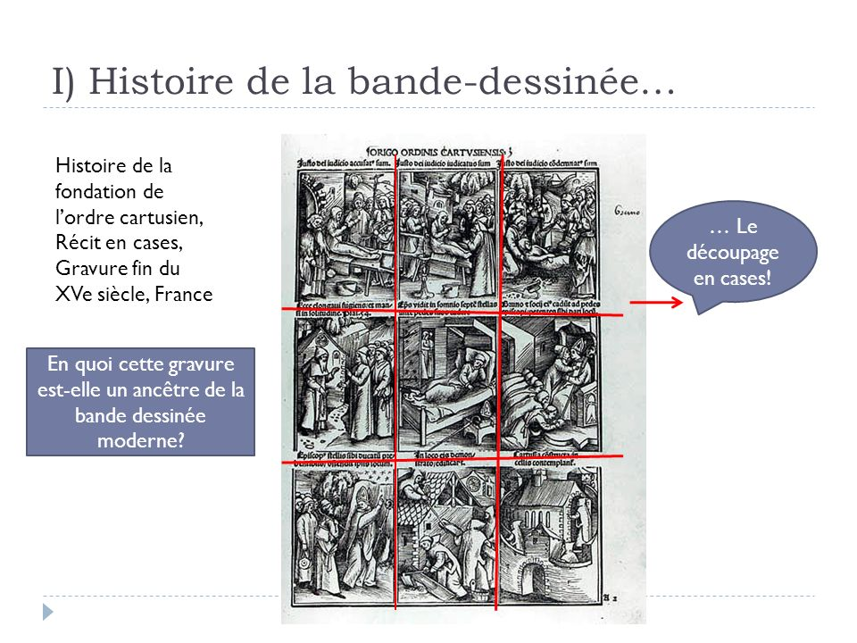 I) Histoire de la bande-dessinée…