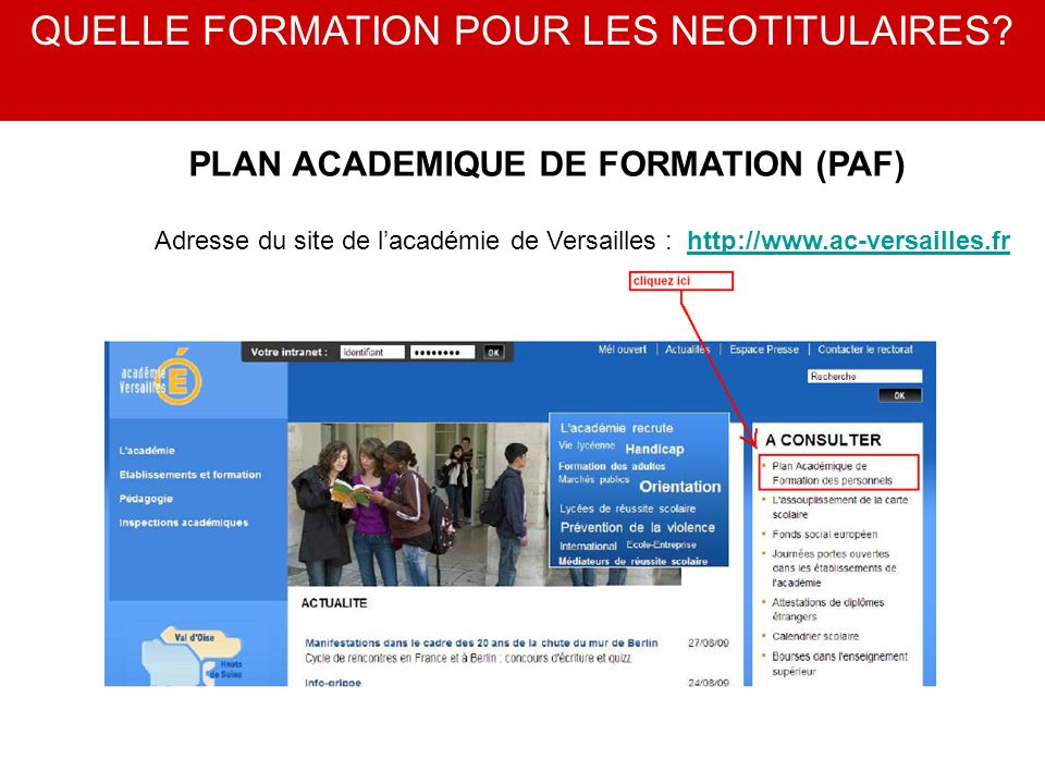 PLAN ACADEMIQUE DE FORMATION (PAF)