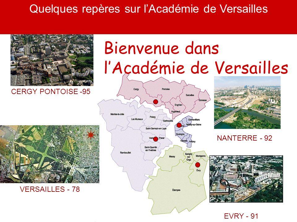 Quelques repères sur l'Académie de Versailles
