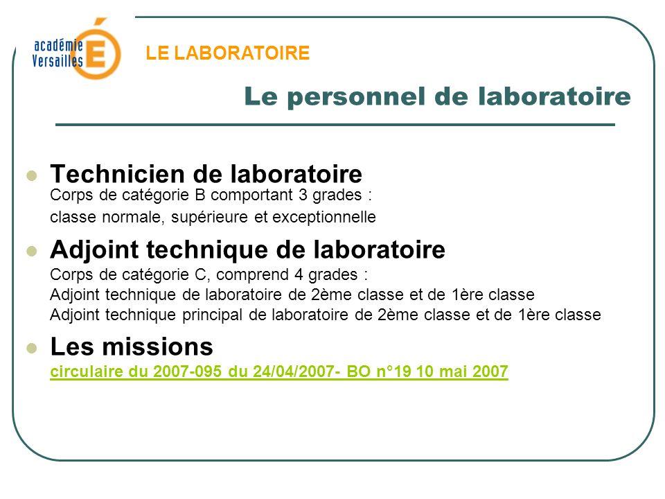 Le personnel de laboratoire