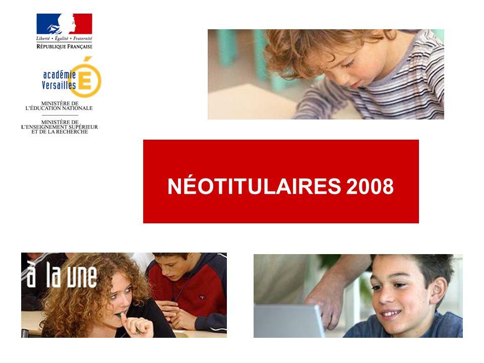 NÉOTITULAIRES 2008