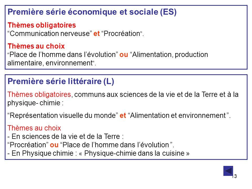 Première série économique et sociale (ES)
