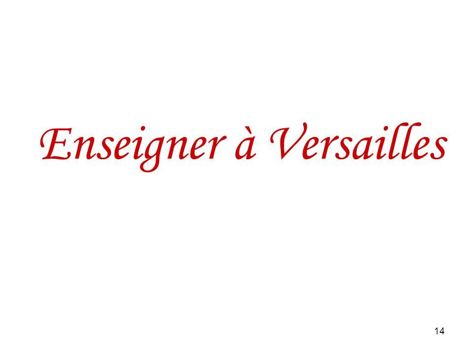 Enseigner à Versailles