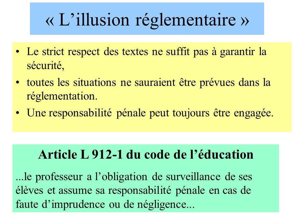 « L'illusion réglementaire »