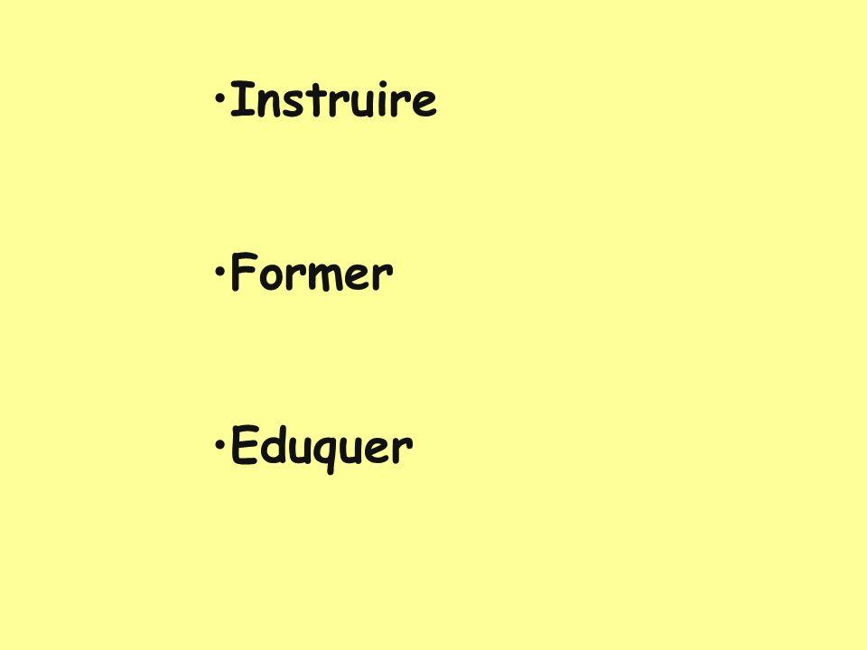 Instruire Former Eduquer