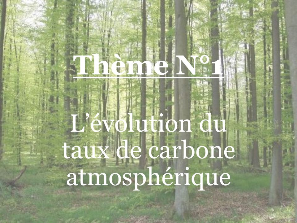 L'évolution du taux de carbone atmosphérique