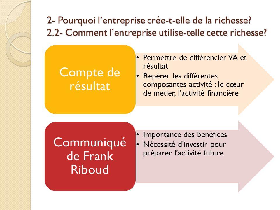 Communiqué de Frank Riboud