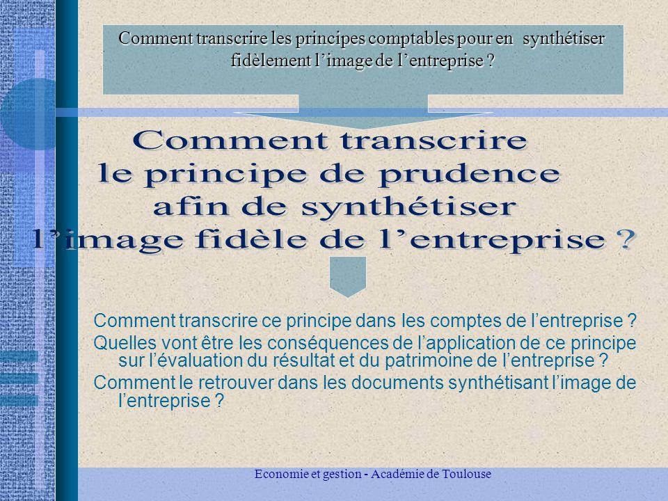 Comment transcrire les principes comptables pour en synthétiser