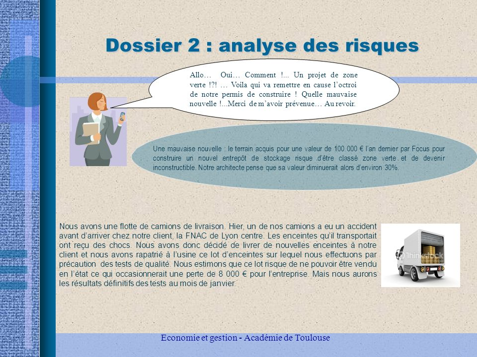 Dossier 2 : analyse des risques