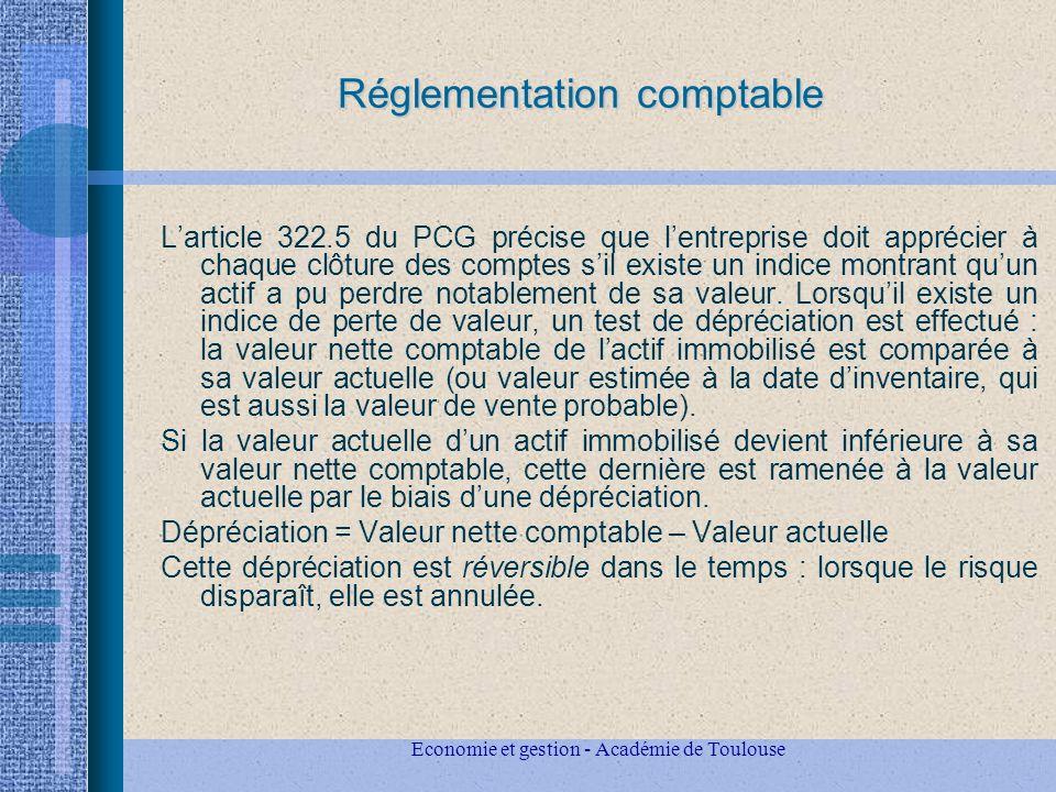 Réglementation comptable