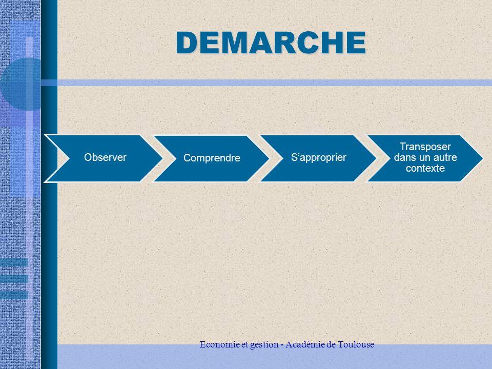 DEMARCHE Economie et gestion - Académie de Toulouse Observer