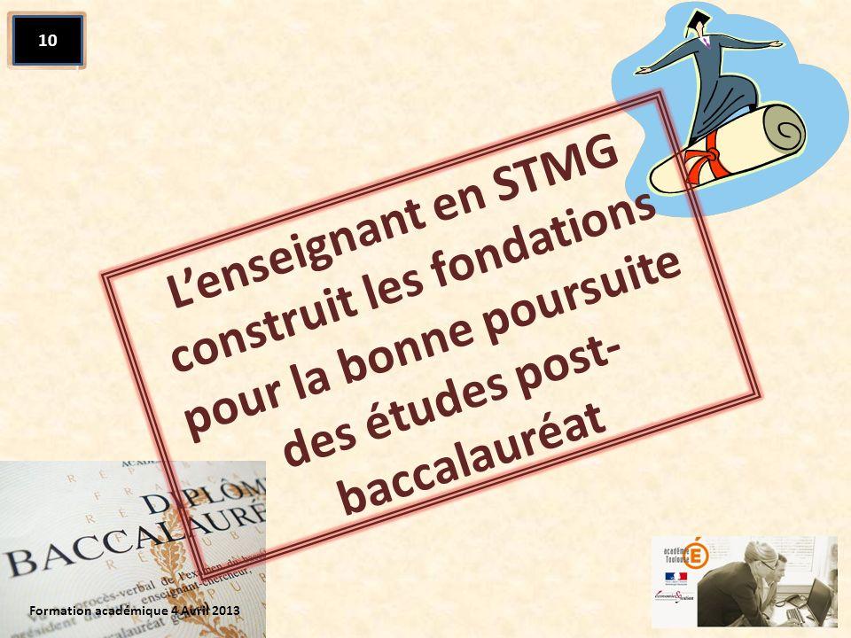 L'enseignant en STMG construit les fondations pour la bonne poursuite des études post-baccalauréat
