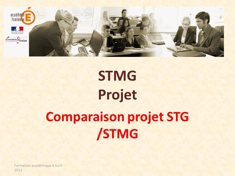Comparaison projet STG /STMG