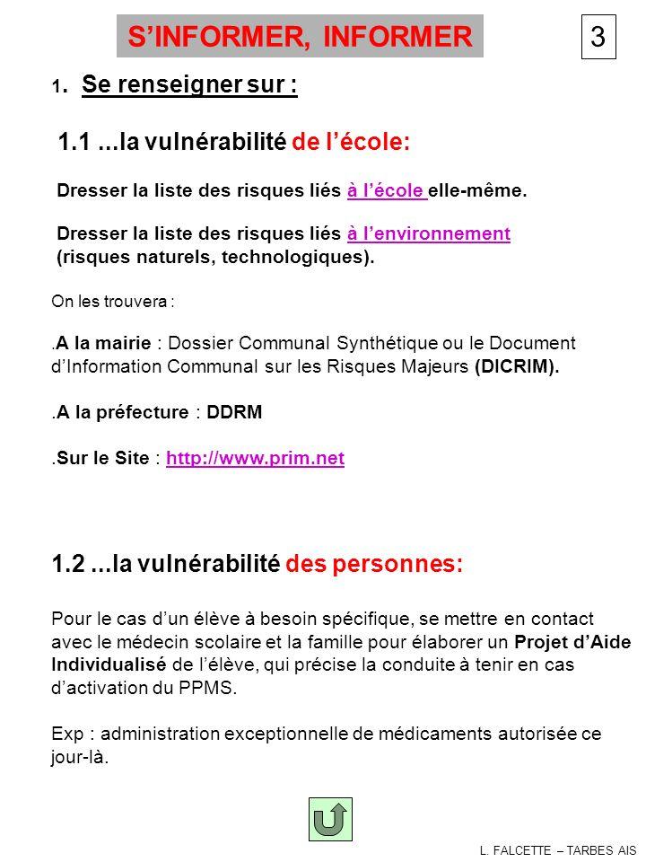 Amorçage PPMS-alerte S'INFORMER, INFORMER 3