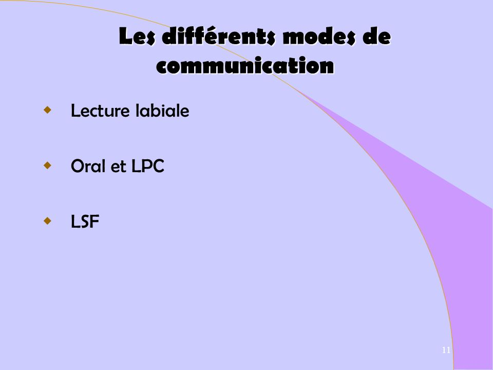 Les différents modes de communication
