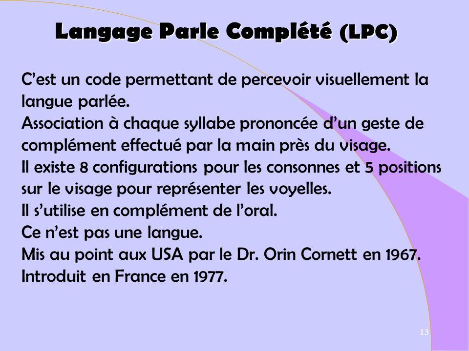 Langage Parle Complété (LPC)
