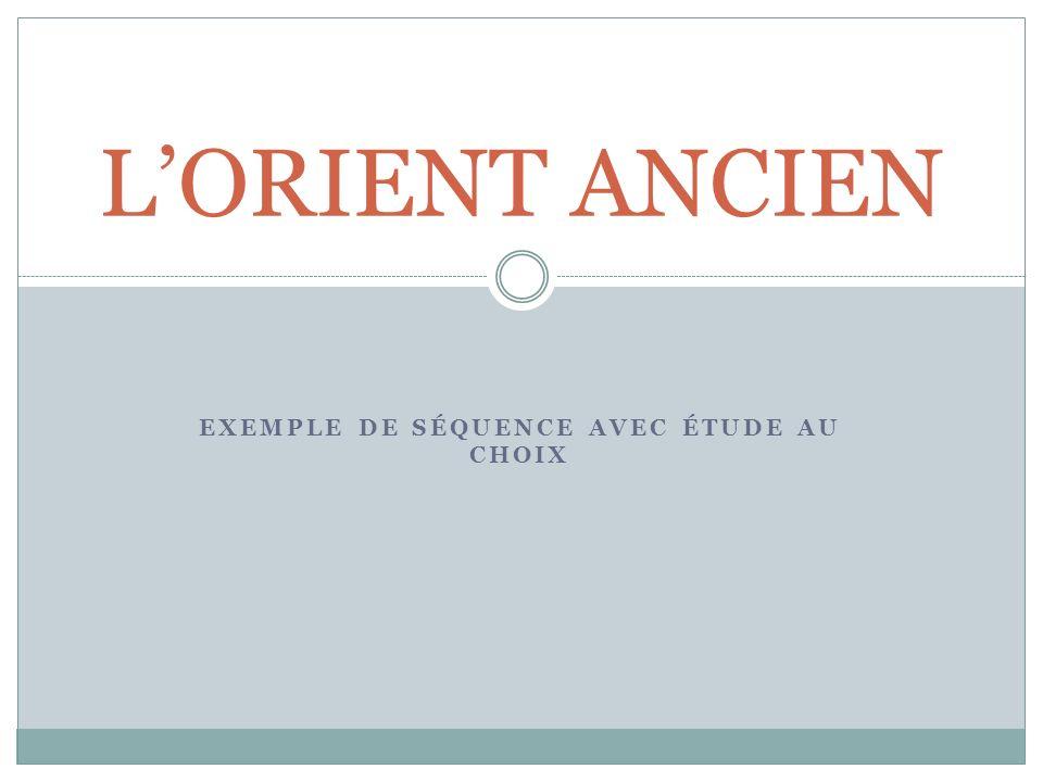 Exemple de séquence avec étude au choix