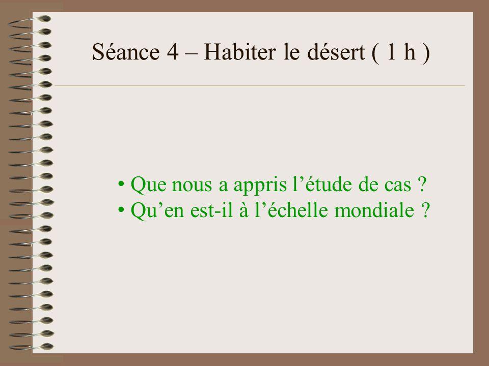 Séance 4 – Habiter le désert ( 1 h )