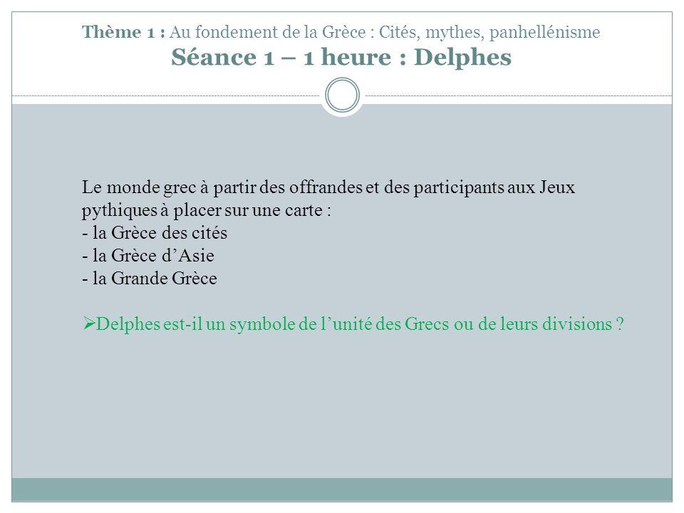 Delphes est-il un symbole de l'unité des Grecs ou de leurs divisions