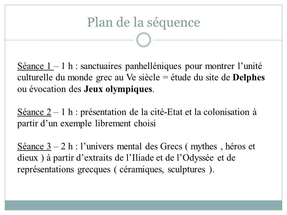 Plan de la séquence