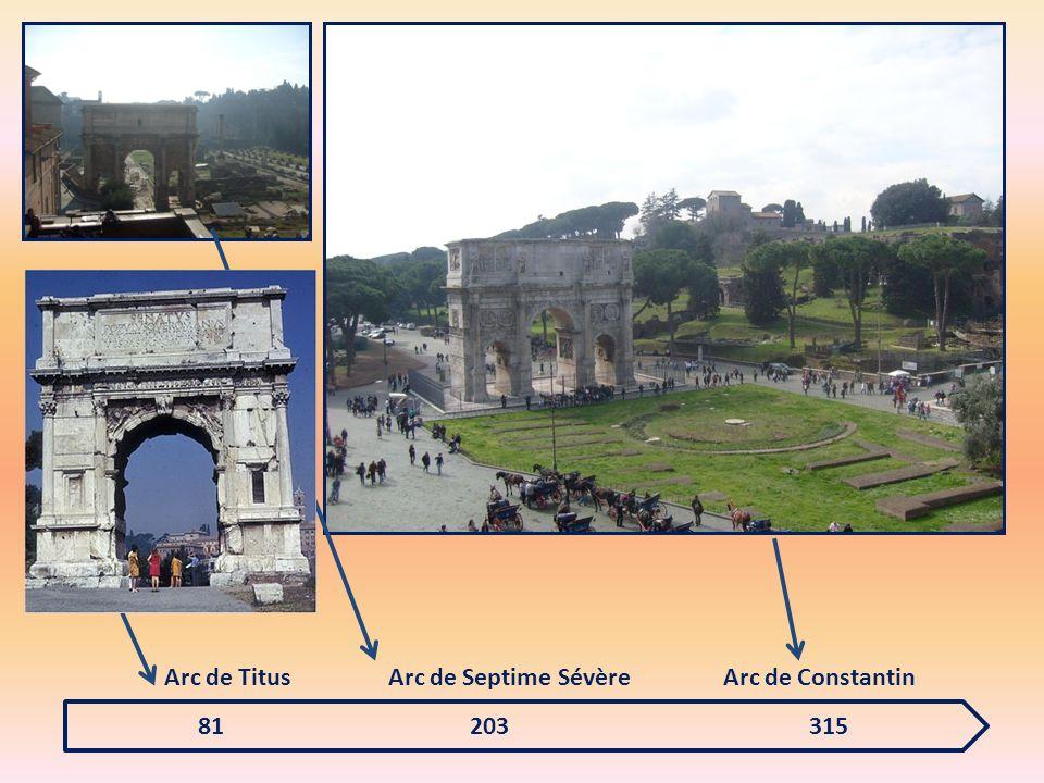 Arc de Titus Arc de Septime Sévère. Arc de Constantin.