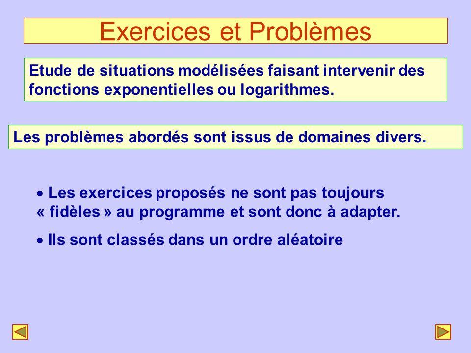 Exercices et Problèmes