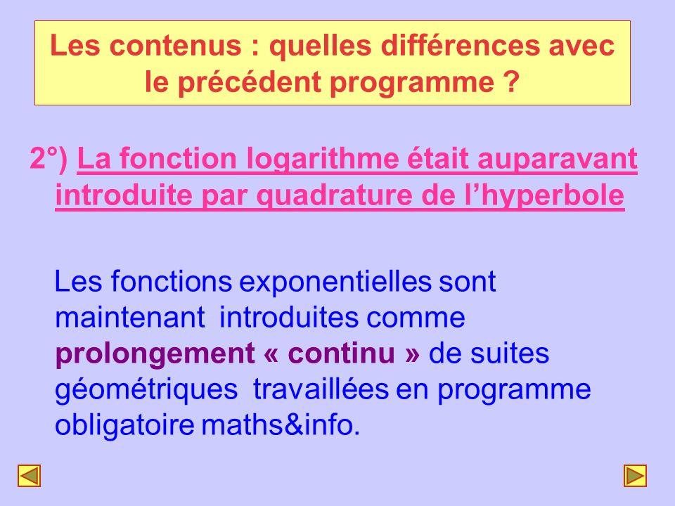 Les contenus : quelles différences avec le précédent programme