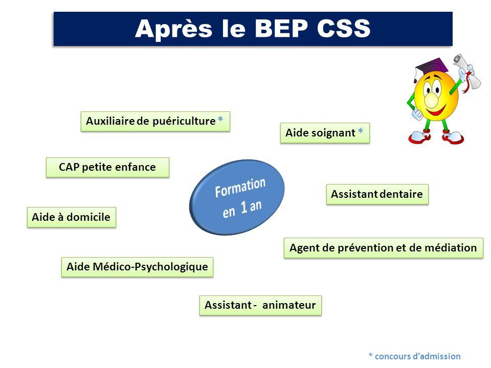 Après le BEP CSS Formation en 1 an Auxiliaire de puériculture *