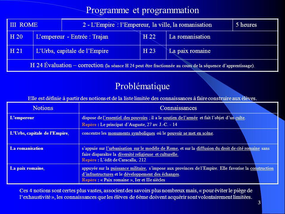 Programme et programmation