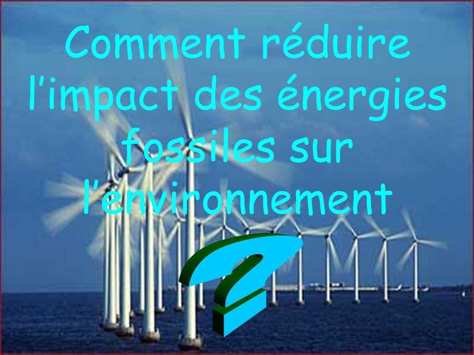 Comment réduire l'impact des énergies fossiles sur l'environnement