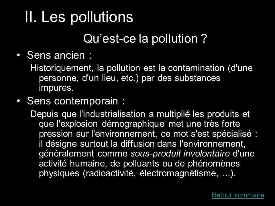 Qu'est-ce la pollution