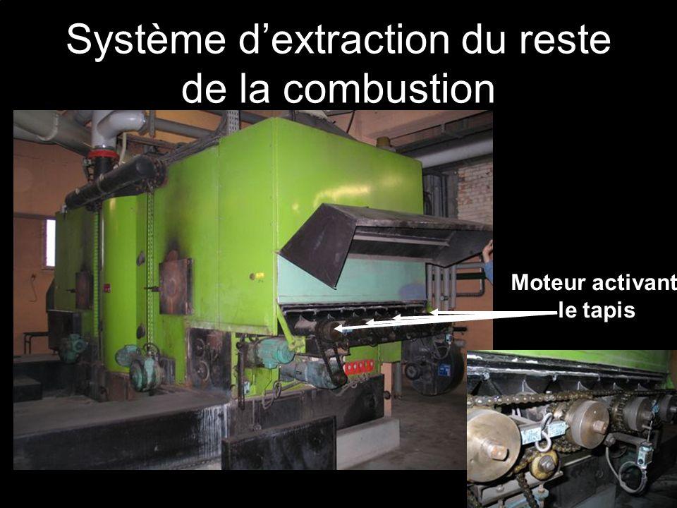 Système d'extraction du reste de la combustion