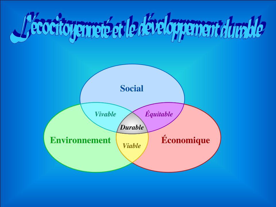 L écocitoyenneté et le développement durable