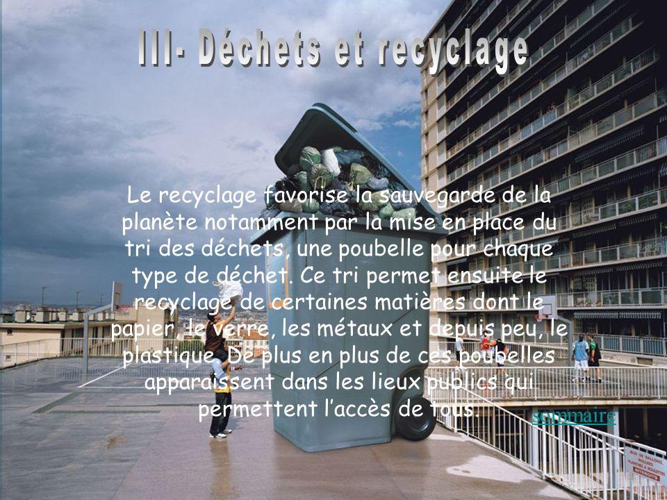 III- Déchets et recyclage