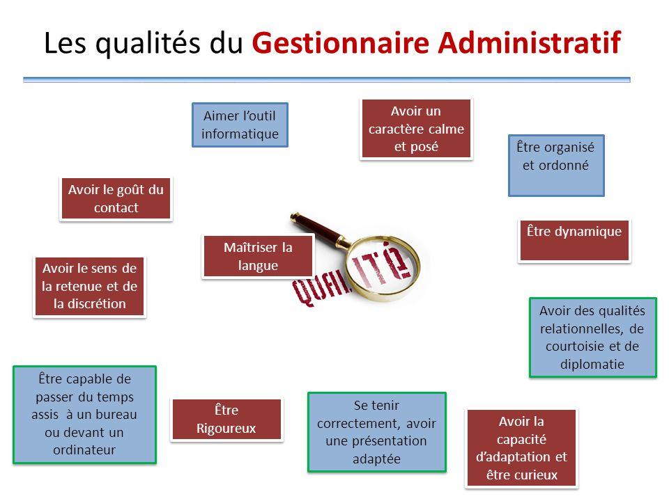 Les qualités du Gestionnaire Administratif
