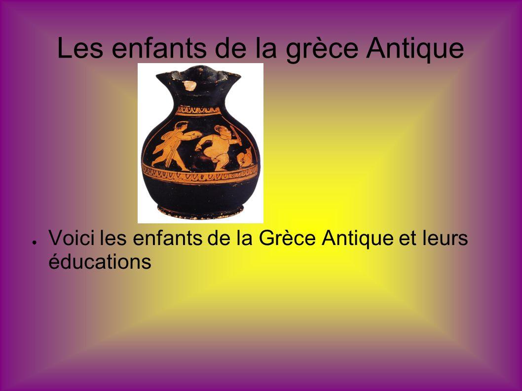 Les enfants de la grèce Antique