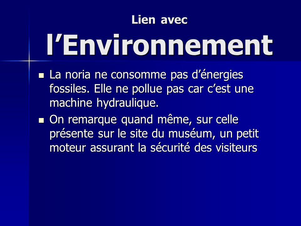 Lien avec l'Environnement