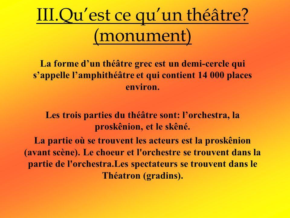 III.Qu'est ce qu'un théâtre (monument)