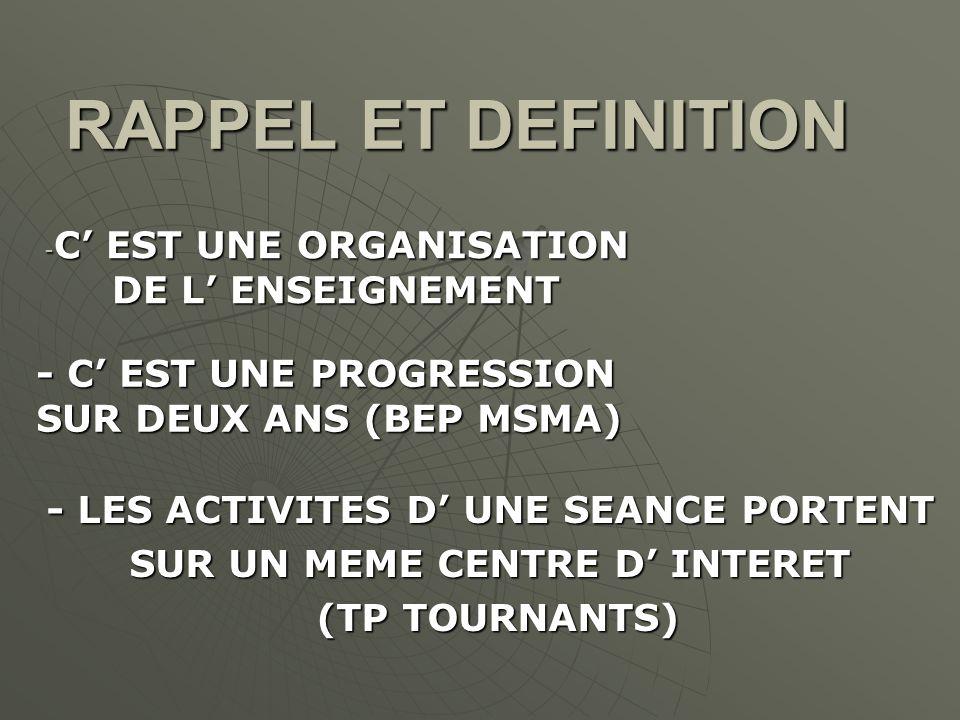 C' EST UNE ORGANISATION DE L' ENSEIGNEMENT
