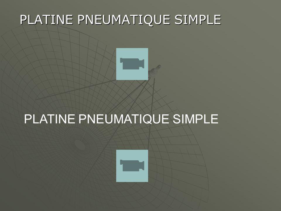 PLATINE PNEUMATIQUE SIMPLE