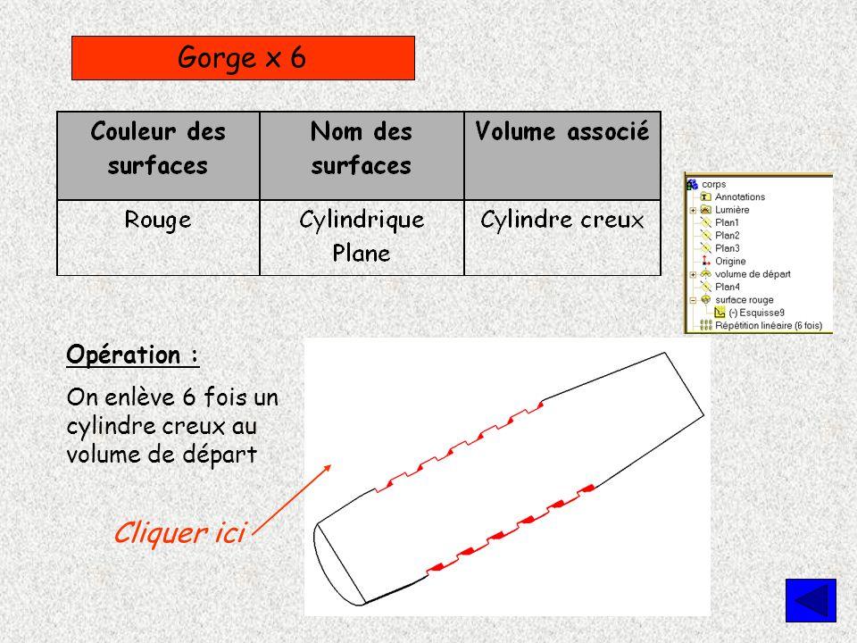 Gorge x 6 Cliquer ici Opération :
