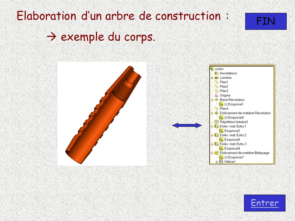 Elaboration d'un arbre de construction :  exemple du corps.