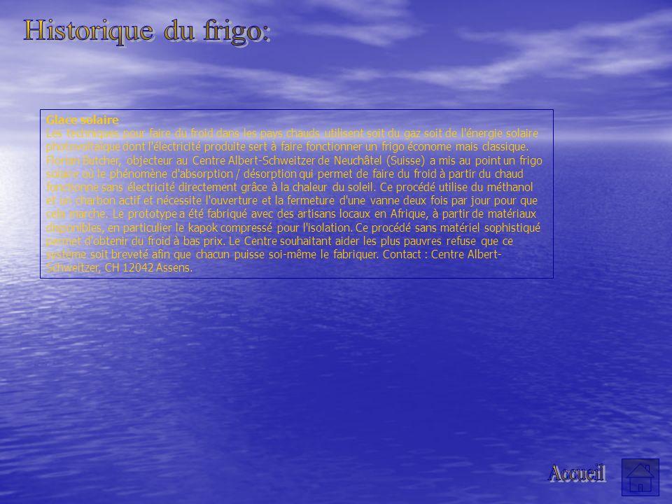 Historique du frigo: Accueil