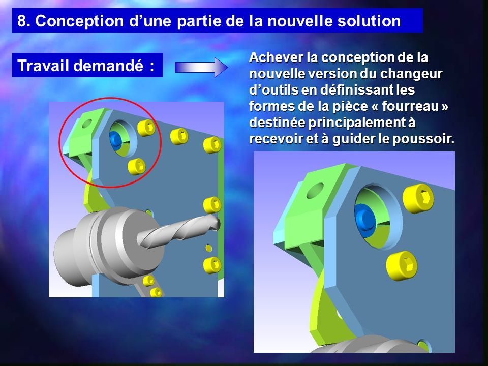 8. Conception d'une partie de la nouvelle solution