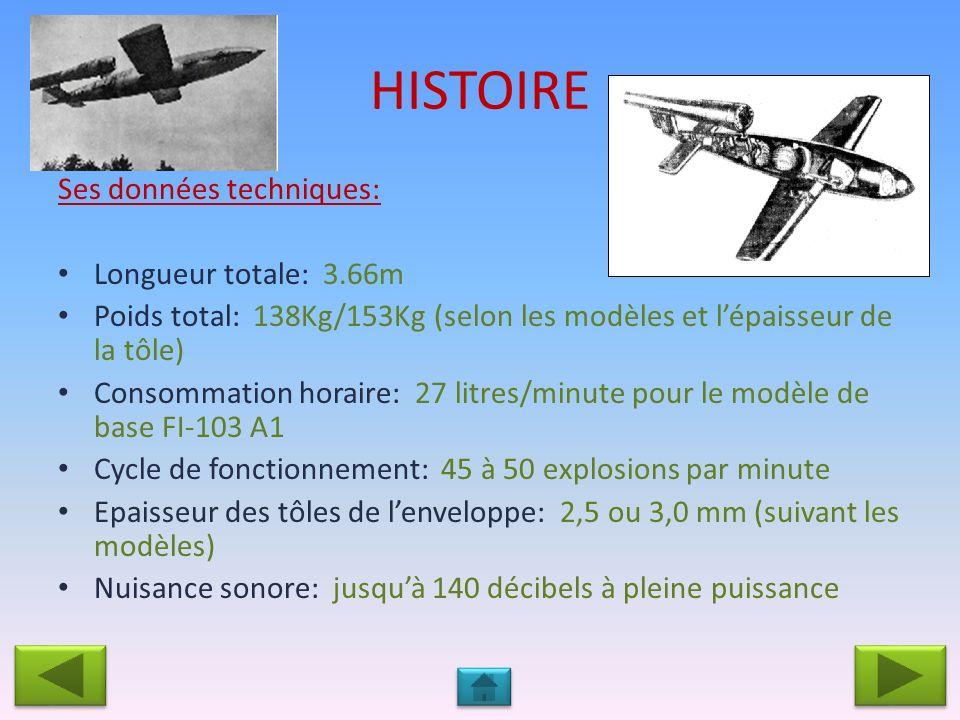 HISTOIRE Ses données techniques: Longueur totale: 3.66m