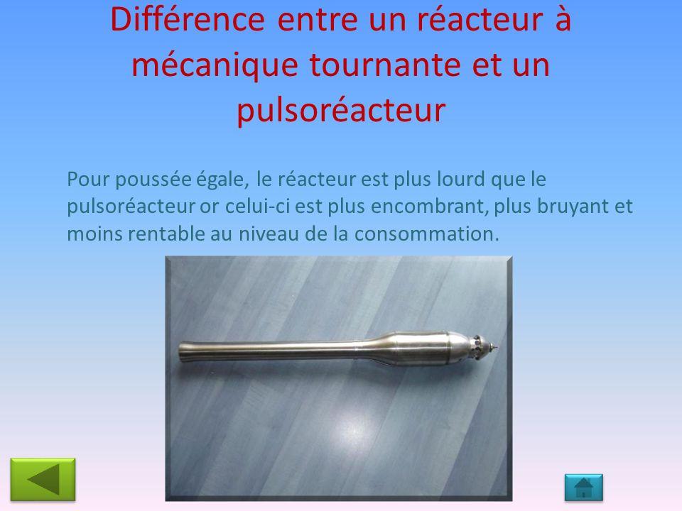 Différence entre un réacteur à mécanique tournante et un pulsoréacteur