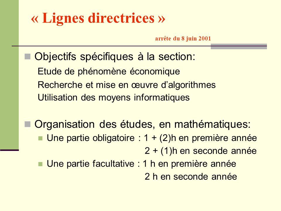 « Lignes directrices » arrête du 8 juin 2001